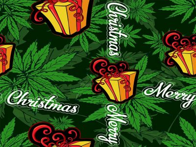 What are the benefits of smoking cannabis before opening gifts on Christmas Day?