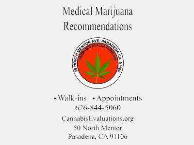 Pasadena Cannabis Evaluations