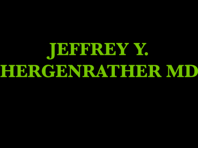 Jeffrey Y. Hergenrather, MD - Medical Cannabis Consultant
