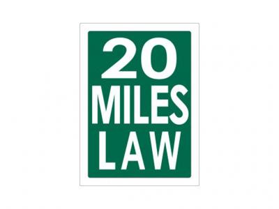 20 Miles Law