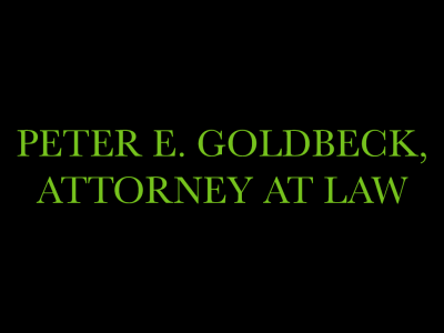 Peter E. Goldbeck, Attorney at Law