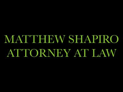 Matthew Shapiro, Attorney At Law