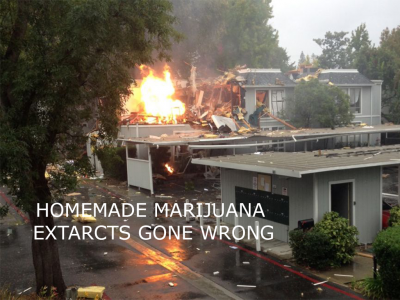 What are the dangers associated with creating marijuana extracts at home?