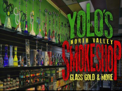 Yolo's Smoke Shop Glass Gold & More