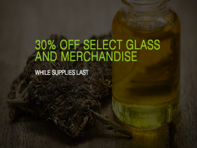 30% Off Glass & Merchandise